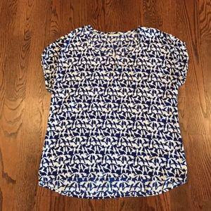 Pleione Short Sleeve Printed Dolman Top